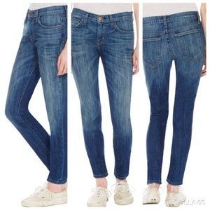 CURRENT ELLIOT | crease mid rise skinny jeans 30